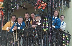 DANCE YOUR CARES AWAY :  The Side Street Strutters play Oct. 27 as part of a 12-hour swing dance concert marathon at the Addie Street Venue in Pismo Beach, part of the weekend-long 31st Annual Jubilee-by-the-Sea jazz festival. - PHOTO COURTESY OF SIDE STREET STRUTTERS