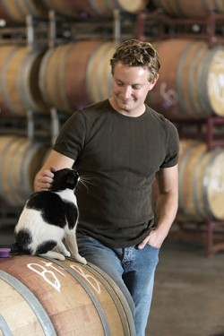 FRESH FACE :  Fintan du Fresne, Domaine Alfred's new winemaker, has a passion for vineyards, and experience with Pinot Noir and cool climates. - PHOTO BY STEVE E. MILLER