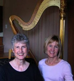 SOFT AND SWEET :  Internationally acclaimed artists soprano Mary Rawcliff and harpist Jennifer Sayre present an evening of harp and voice at St. Benedict's Episcopal Church in Los Osos on Friday, July 27. - PHOTO COURTESY OF SALLY SOMERS