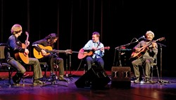 THE POWER OF FOUR :  Brian Gore, D'Gary, Clive Carroll, and Miguel de la Bastide will share the stage to perform mostly original music as the International Guitar Festival playing Feb. 6 at the Cohan Center. - PHOTO COURTESY OF INTERNATIONAL GUITAR NIGHT