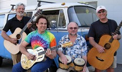 SINK YOUR TEETH INTO THIS, DUDE! :  Surf rock act The Dentures will play a ripping set of surf rock at Los Osos' Red Barn Community Music Series on Aug. 4. - PHOTO COURTESY OF THE DENTURES