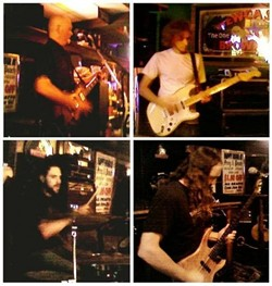 THEY WILL ROCK YOU! :  Hard rocking 70s throwbacks Axia play an album release party on April 7 at Hoovers Live. - PHOTO COLLAGE COURTESY OF AXIA