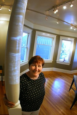 GALLERY BE GONE:  Gail Johnson has returned to her picture framing roots abandoning the unprofitable fine art gallery side of her Marsh Street business - PHOTO BY CHRISTOPHER GARDNER