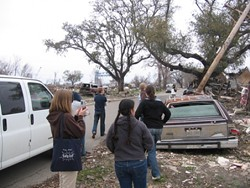 Starting from the ground up Students survey the hurricane-damaged Gulf Coast region, in preparation for the upcoming Design Week 2006, which will focus on the redevelopment of New Orleans. - PHOTO COURTESEY OF CAL POLY DEPT. OF ARCHITECTURE
