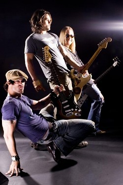 WOW, THOSE ARE BIG, ER, GUITARS! :  The Wes Jeans Band, a smokin' blues act out of Texas, plays its debut California gigs Aug. 24 and 25 at O'Reilly's Bar & Grill. - PHOTO COURTESY OF THE WES JEANS BAND