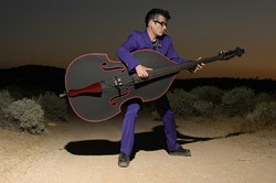 STILL ROCKER :  Former Stray Cats bassist Lee Rocker will deliver a blistering hot night of roots and rockabilly on Oct. 12 at Downtown Brew. - PHOTO BY ALEX SOLCA