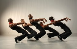 SMALL-TOWN BOYS :  Pictured is a scene from Blues Suite, which was choreographed by Alvin Ailey in 1958, and is now performed as a segment of Ailey Highlights II. - PHOTO COURTESY OF EDUARDO PATINO