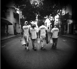 PORTRAIT OF THE ARTISTS AS YOUNG TAGGERS:  SLO quartet Siko releases their sophomore effort, Paint the Town, on Feb. 29 at Downtown Brew. - PHOTO COURTESY OF SIKO