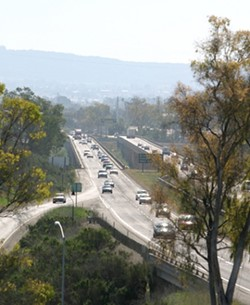 A DRY RIVER RUNS UNDER IT :  The California Transportation Commission denied a request to set aside some Proposition 1B funding to widen the Santa Maria River Bridge the main route between San Luis Obispo and Santa Barbara counties. Preparation for bridge construction, however, will continue on schedule, in case funds become available in the future. - FILE PHOTO