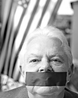 NO TALKING! :  Pismo Beach City Councilman Bill Rabenaldt was recently censured by the council. - PHOTO BY STEVE E. MILLER