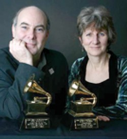 GRAM-A-RAMA! :  Grammy Award winners Eric Tingstad and Nancy Rumbel play Coalesce Bookstore on April 20 and Castoro Cellars on April 21. - PHOTO COURTESY OF TINGSTAD & RUMBEL
