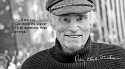 """HEROES :  Previous SLO poet laureate Ray Clark Dickson is pictured here as part of """"Poets Laureate in California, a Photographic Exhibit."""" - IMAGE BY RONNA LEON"""