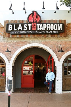 HAND CRAFTED :  Blast 825 Taproom proprietor Dan Harper has brought quick, custom pizzas and a long, long lineup of self-serve pizza to downtown SLO. - PHOTO BY DYLAN HONEA-BAUMANN