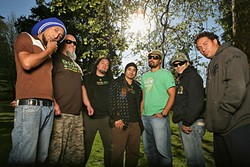 CATCH KATCHAFIRE:  New Zealand reggae act Katchafire plays the SLO Mission Plaza on May 20 for a later afternoon show. - PHOTO COURTESY OF KATCHAFIRE