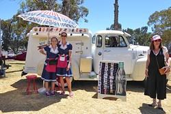 TASTY TREATS:  SLO Maid Ice Cream hawks frozen ice cream and yogurt from their vintage truck. - PHOTO BY GLEN STARKEY