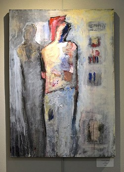 HOLDING THE PURSE STRINGS:  'In His Shadow' by Jewel DeMoss explores the relationship dynamic of a husband or boyfriend holding all of the financial power. - PHOTO COURTESY OF PASO ROBLES ART ASSOCIATION