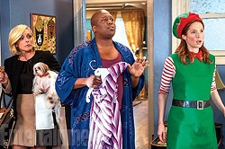 STRONG AS HELL :  Ellie Kemper (far right) stars in the Tina Fey created series 'Unbreakable Kimmy Schmidt,' which is now in its second season on Netflix. - PHOTO COURTESY OF NETFLIX