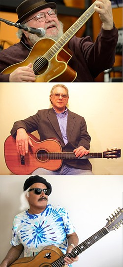 TAKOMA THREE!:  Three of Takoma Records' best fingerstyle guitarists—(from top) Peter Lang, Rick Ruskin, and Toulouse Engelhardt—play March 18 at Steynberg Gallery. - PHOTOS COURTESY OF PETER LANG, RICK RUSKIN, AND TOULOUSE ENGELHARDT