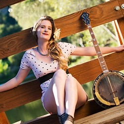 EARTH MAMA:  Banjoist Erin Inglish is one of several acts playing the 26th Annual Earth Day Fair & Music Festival at El Chorro Regional Park on April 24. - PHOTO COURTESY OF ERIN INGLISH
