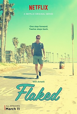 UNPREDICATBLE:  Will Arnett stars in the Netflix Original Series 'Flaked' as Chip, a recovering alcoholic with a dark past trying to start over in Venice Beach. - PHOTO COURTESY OF NETFLIX