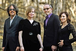 OUT OF THE SHADOWS :  Ethereal pop folk quartet Shadowlands plays Steynberg Gallery on March 12. - PHOTO BY BARRY GOYETTE