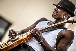 DEEP BLUES :  Dennis Jones plays April 9, for the next SLO Blues Society concert at the SLO Vets Hall. - PHOTO COURTESY OF DENNIS JONES
