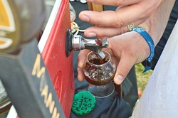 BEATING THE HEAT:  Beer lovers braved near 100-degree temperatures to attend cold and wild brews poured during the 2016 invitational beer festival hosted by Firestone Walker. - PHOTO BY DAVID MINSKY
