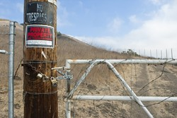 ON THE TRAIL:  After he was forced to remove signs and fences from the Ontario Ridge hiking trail, a local landowner wants the county to move its location. - FILE PHOTO BY STEVE E. MILLER