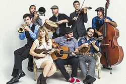 AMERICANA MEDICINE SHOW :  The hootin', hollerin', foot-stompingly fun Dustbowl Revival is one of more than 30 acts at this year's Live Oak Music Festival running June 17 through 19, at Camp Live Oak. - PHOTO COURTESY OF DUSTBOWL REVIVAL