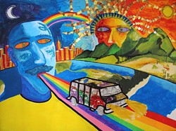 NEVER ALONE:  Artist Joseph Griffin-Janey's painting The Travelers is an ode to members of the LGBT community that have come before and paved the way for others. - IMAGE COURTESY OF JOSEPH AND JACK GRIFFIN-JANEY