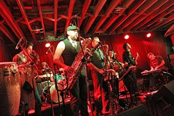 COME DOWN TO FUNKY TOWN:  The Sure Fire Soul Ensemble brings their instrumental deep groove sounds to Tap It Brewing Co. on May 1. - PHOTO COURTESY OF THE SURE FIRE SOUL ENSEMBLE