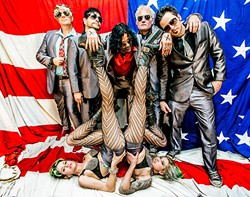 GLAMTASTIC:  Glam rockers The DTEASE play July 16 at Frog and Peach. - PHOTO BY GABE RUIZ
