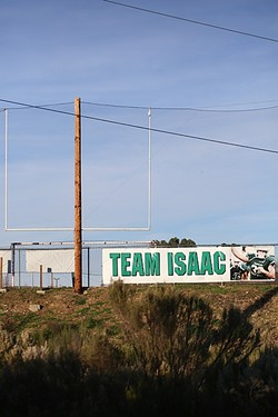 TEAM ISAAC:  The Templeton community welcomed home 16-year-old Isaac Lindsey in December after he spent weeks rehabilitating from a life-threatening head injury. Lindsey sustained a secondary impact concussion during a high school football game, meaning he suffered a second concussion after a first one went undetected. Multiple concussions are a pressing concern in the SLO youth sports community. - PHOTO BY DYLAN HONEA-BAUMANN