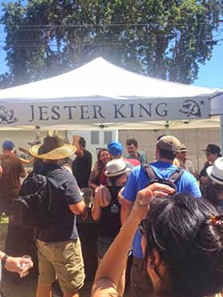 FAR AND WIDE:  The festival featured more than 50 brewers, including the Texas-based Jester King, which uses wild yeast in its beer-brewing process. - PHOTO BY CHRIS MCGUINNESS