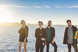 'WE DO THE BEST WE CAN' :  Local pop quartet Fialta is on a West Coast tour in support of their new album, with a stop on July 15, at SLO's Grange Hall. - PHOTO BY JERED SCOTT