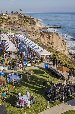 ENDLESS SUMMER FLAVOR :  This year's Wine, Waves & Beyond event benefiting GleanSLO culminates in a groovy celebration of food, wine, beer, and surf culture at the Cliffs Resort in Pismo Beach this April 29. The full event takes place April 27 through May 1 and includes surfer flicks, surf content, a winemakers dinner, VW bus car show, and more. - PHOTO COURTESY OF WINE, WAVES & BEYOND