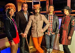 WALK LIKE YOU'RE SUPERFLY :  Brooklyn-based Pimps of Joytime bring their swanky funk and hip-hop sounds to Tap It Brewing Co. on March 17. - PHOTO COURTESY OF PIMPS OF JOYTIME