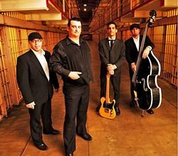 ALCATRAZ PRISON BLUES:  Cash'd Out, a Johnny Cash tribute band, plays June 24, at Tap It Brewing Co. - PHOTO COURTESY OF CASH'D OUT