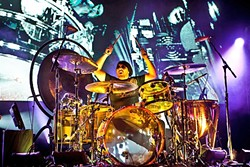 LED ZEPPELIN EXPERIENCE:  Jason Bonham pays tribute to his father, Led Zeppelin drummer John Bonham, May 14, at Vina Robles Amphitheatre. - PHOTO COURTESY OF JASON BONHAM AND MSOPR.COM