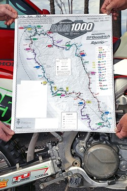 PLAN OF ATTACK:  Long before race day, the team of friends devised an intricate plan of who would race what portion of the course and which car would link up with which rider at any given stop. - PHOTO COURTESY OF COASTRIDERS POWERSPORTS