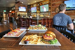 ATOWN PROUD:  Street Side Ale House offers up juicy beef burgers topped with smoked gouda cheese; snapper fish tacos with crunchy pickled veggies; and cheesy carnitas tacos crowned with creamy guacamole. - PHOTO BY DYLAN HONEA-BAUMANN