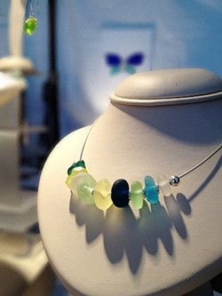 COLORFUL GEMS:  From trash to treasure, sea glass comes in all shapes and colors. - PHOTO COURTESY OF RELISH STUDIO AND GALLERY