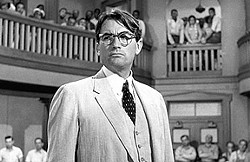 DEFENSE:  In 'To Kill a Mockingbird,' Atticus Finch (Gregory Peck) is the attorney for Tom Robinson (Brock Peters), a black man accused of raping and beating a white teenager in Alabama in the 1930s. - PHOTO COURTESY OF UNIVERSAL PICTURES