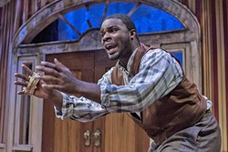 DARK SECRETS:  Simon (Derrick Lee Weeden, not pictured) and John (Antwon D. Mason Jr., pictured) grapple with survival as the Civil War ends and emancipation sets them free in 'The Whipping Man.' - PHOTOS COURTESY OF LUIS ESCOBAR/REFLECTIONS PHOTOGRAPHY STUDIO