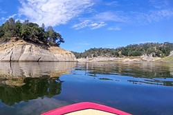 FLOOD CONTROL:  Although the water levels in Lake Nacimiento are low right now, recently approved legislation allocates money to build a pipeline between it and Lake San Antonio, for cases when the reservoir is flush with water. - PHOTO BY ALEX ZUNIGA