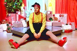 A NOT SO MERRY CHRISTMAS :  Kevin Harris stars in the one-man show 'The Santaland Diaries,' in which author David Sedaris tells the story of that one time he worked as an elf at Macy's during Christmas. - PHOTO COURTESEY OF JAMIE FOSTER PHOTOGRAPHY