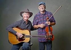 FOLK LEGENDS :  Award-winning guitarist Mark Heyes and champion fiddler Phil Salazar will team up to play a Red Barn concert on Aug. 6. - PHOTO BY CHRIS JENSEN