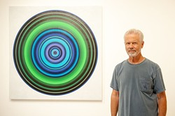 HYPNOTIC:  Don Suggs' captivating circle pieces, like Abyss Pool, pull their colors from hues found in the landscape. - PHOTO COURTESY OF CUESTA COLLEGE