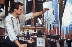 """ARTIST OR MERE FORGER:  Nick Hart (Keith Carradine) is an American expatriate artist living in 1926 Paris, who's still in love with his estranged wife though she's now """"married"""" to a jealous and sadistic rich businessman. - PHOTO COURTESY OF NETFLIX"""