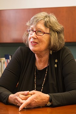 NOT IN MY HOUSE:  Former SLO Mayor Jan Marx faced intense criticism over her role in developing the Rental Housing Inspection Program, which could be repealed in 2017. - FILE PHOTO BY JAYSON MELLOM